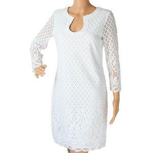 "Lilly Pulitzer Dresses - Lilly Pullitzer ""Mara Scallop Hem Lace White Dress"